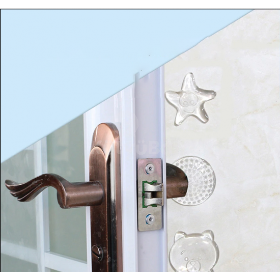 Öntapadós szilikon ajtóütköző (10 db)