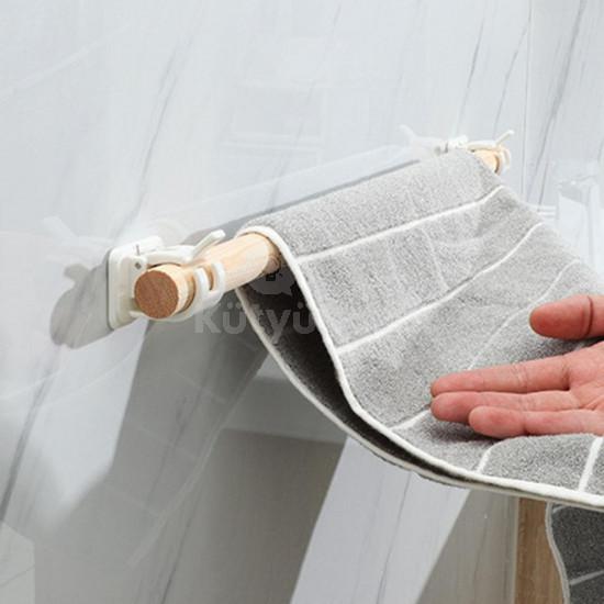 Öntapadós karnis, függönyrúd rögzítő - háztartási tartó (2 db)