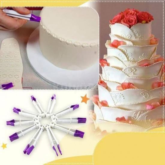 Tortaformázó készlet, Fondant formázó csipesz készlet (10 db)