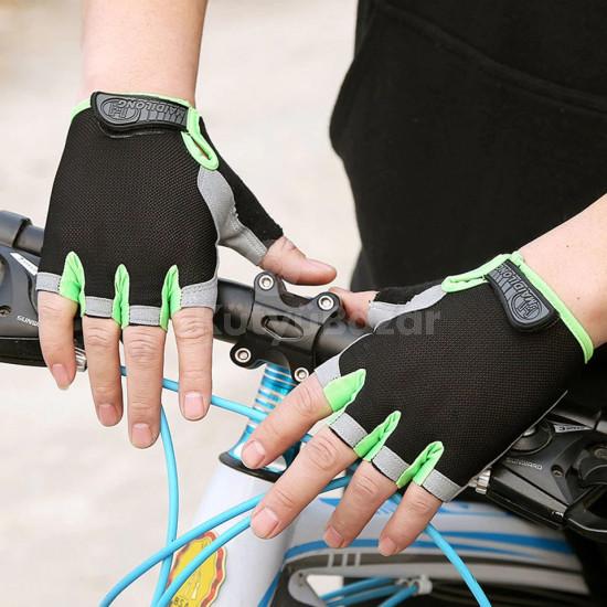 Csúszásmentes kerékpáros sportkesztyű, izzadság és nedvszívó kesztyű