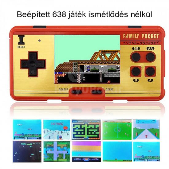 Retro hordozható konzol 168 játékkal