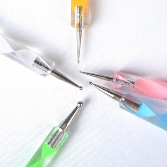 Körömdíszítő toll, körömdíszítő készlet (5 db)