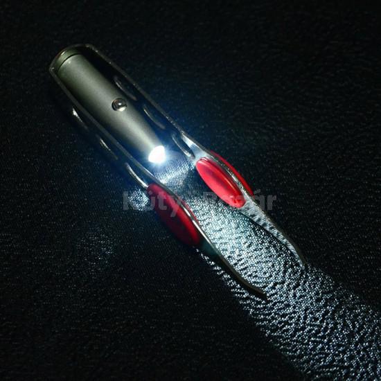 LED-es szemöldökcsipesz