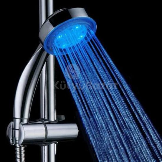 Zuhanyfej, ledes zuhanyfej, hőre színváltós zuhanyrózsa