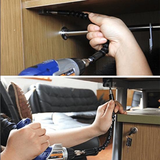 Flexibilis fúrószár csatlakozó fúróhoz, csavarhúzóhoz