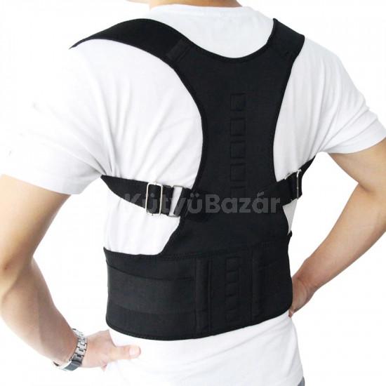 Tartásjavító heveder, testtartás javító mágneses hátpánt