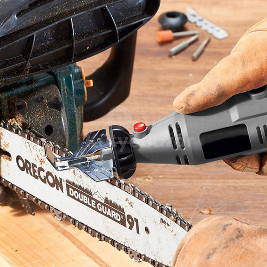 Láncélező készlet, láncfűrész élező adapter szett multiszerszámhoz