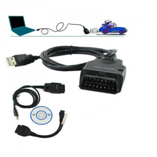 Galletto 1260 ECU Flasher EOBD 2 OBDII OBD chiptuning kábel