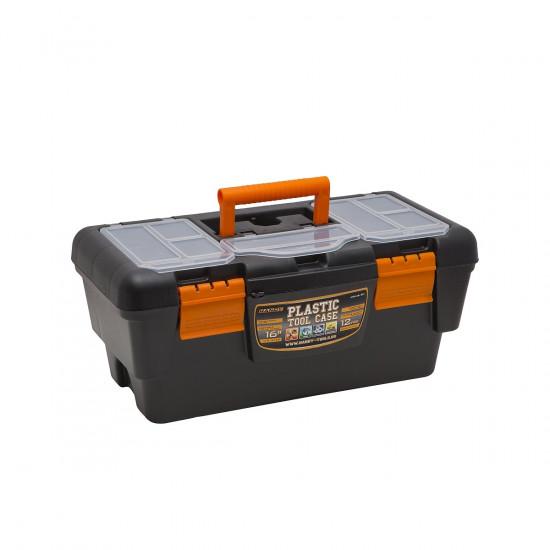 Műanyag szerszámtartó láda 16' - 400x220x180 mm