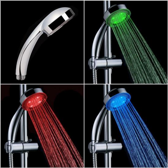 Hőre színváltós LED zuhanyfej