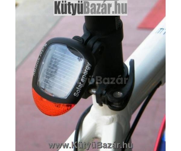 Napelemes solar hátsó kerékpár lámpa bicikli hátsó LED lámpa