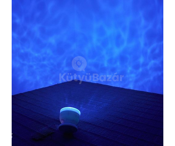 Nyugtató projektoros óceán hangulatlámpa hangszóróval - Relaxálj, mintha egy trópusi szigeten lennél