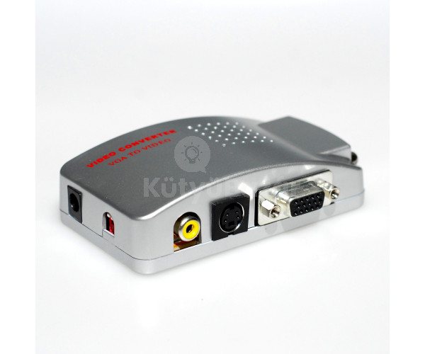 VGA TV átalakító PC konverter VGA RCA SVIDEO kábel
