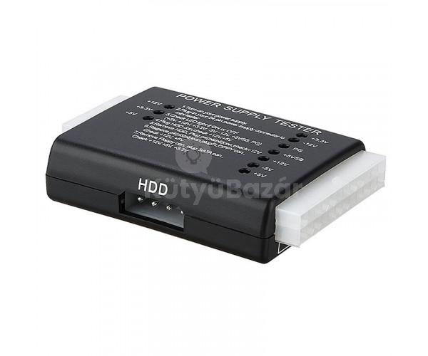 Tápegység teszt teszter HDD SATA ATX 20/24 PIN