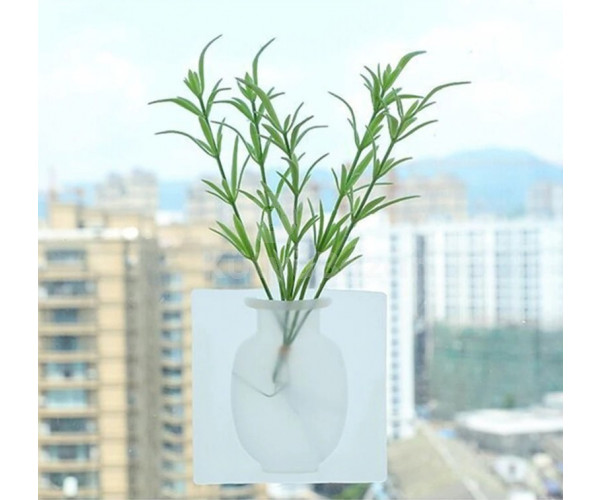 Öntapadós fali szilikon váza