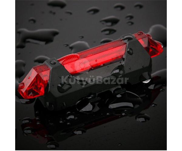 Vízálló USB-s kerékpár hátsó lámpa