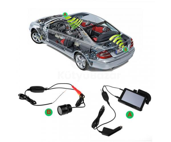 Tolatókamera vezeték nélküli egység 12V GPS - hez