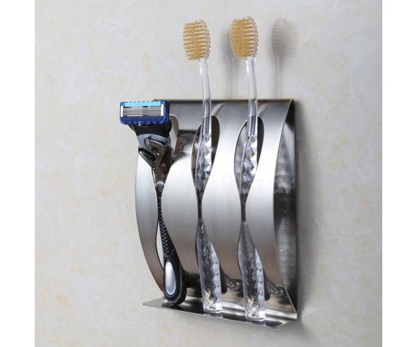 Falra rögzíthető borotva, és fogkefe tároló