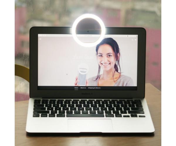 Univerzális, világítós selfie karika telefonhoz