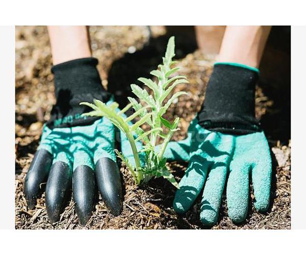 Kesztyű kertészkedéshez ásókarmokkal