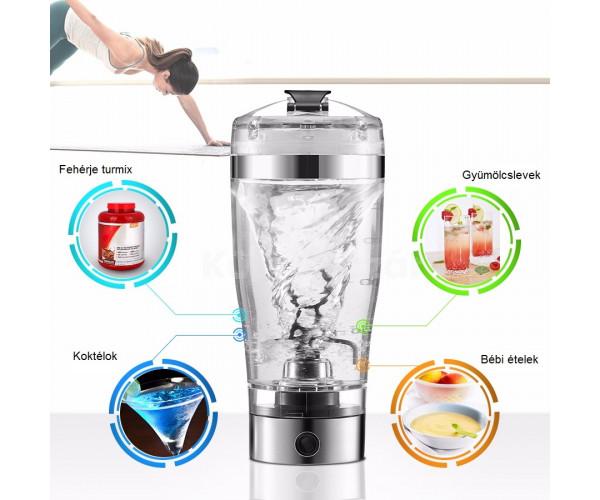 Hordozható elemes mixer, shaker
