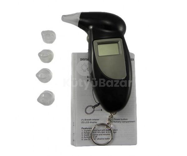Digitális alkoholszonda kulcstartóval