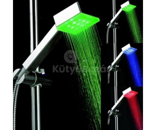 Hőszenzoros színváltós Cube LED zuhanyfej