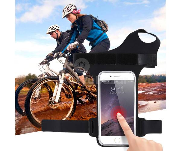 Karra erősíthető telefontartó sportoláshoz
