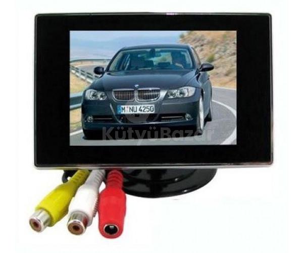 """3.5"""" TFT LCD mini monitor autóba színes tolatókamera monitor"""