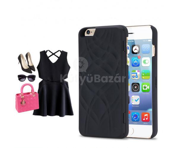 Iphone 7 hátlap kártyatartóval és tükörrel
