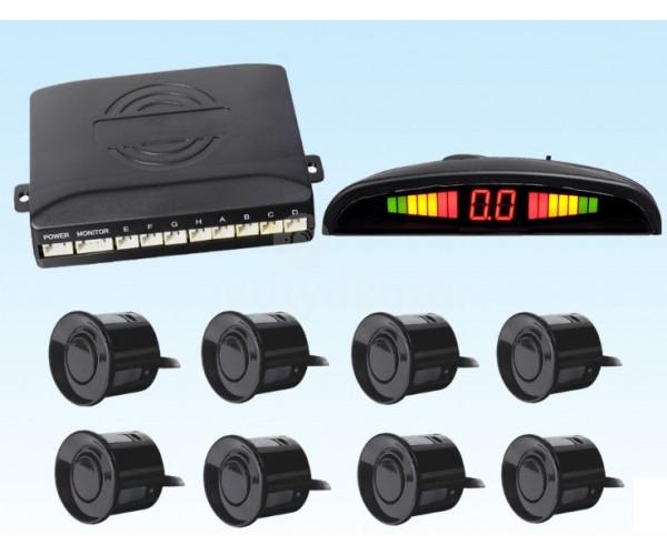 8 szenzorral rendelkező  tolatóradar, ultrahang szenzoros