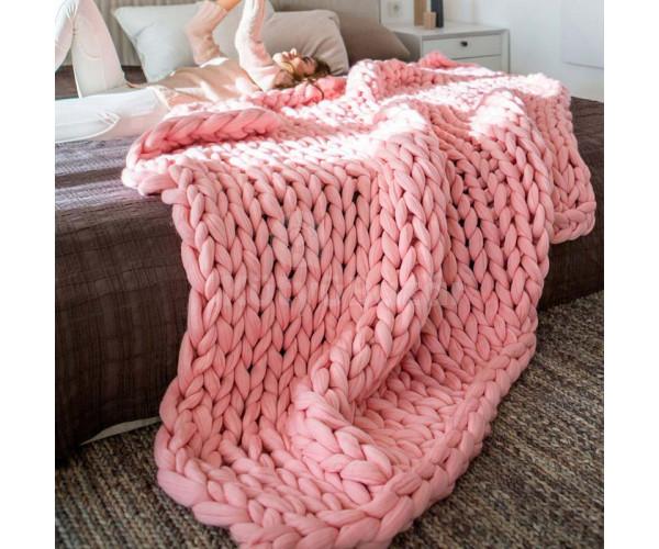 Vastag szövetű kötött takaró