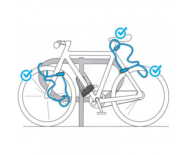 Lopásgátló kerékpárzár, riasztós biciklizár