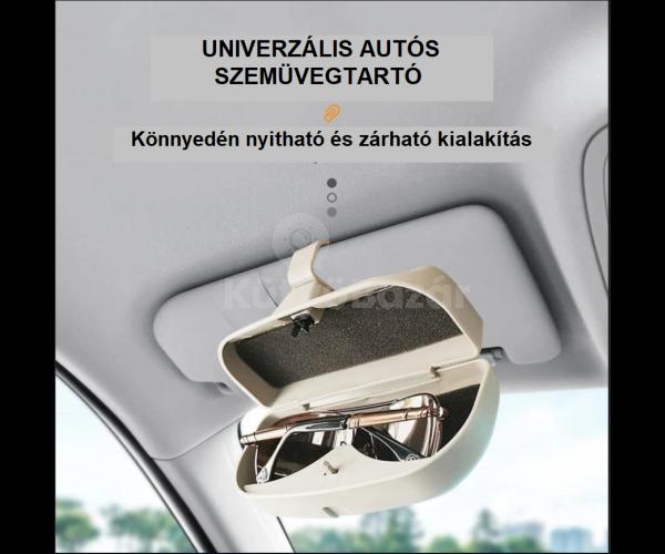 Autós napellenzőre szerelhető napszemüveg/szemüveg tartó