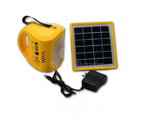 Hordozható multifunkciós lámpa napelemmel