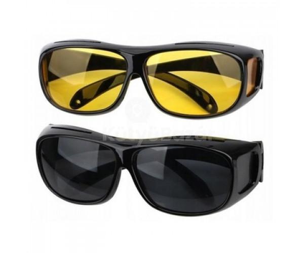 Sofőr szemüveg, vezetői szemüveg 2 db (nappali/éjszakai)