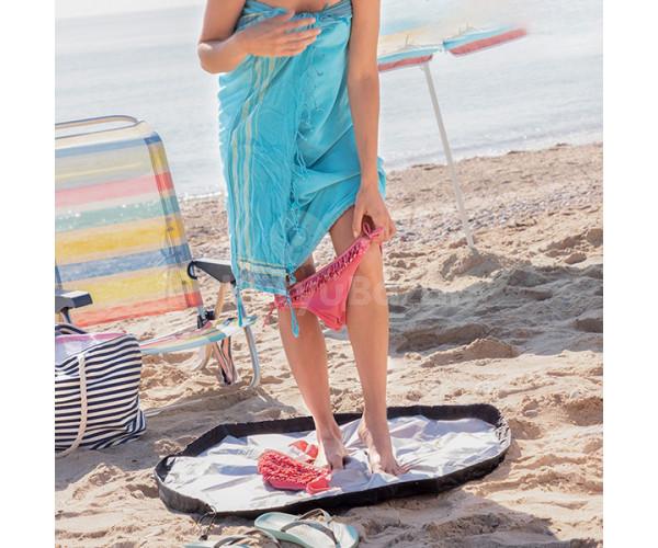 2 az 1-ben öltözőszőnyeg és vízálló táska