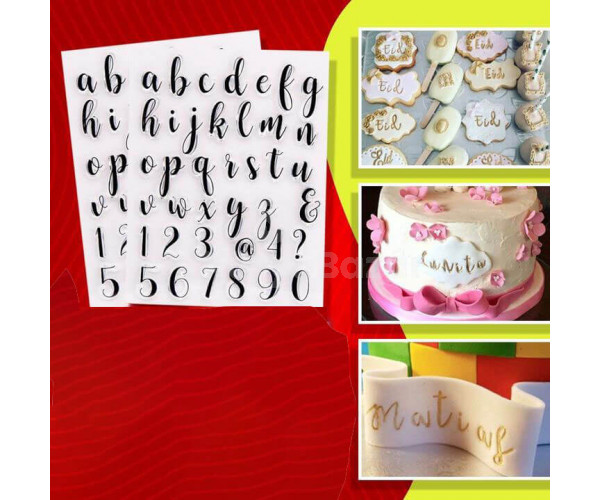 Szilikon ABC-s torta-desszert díszítő forma
