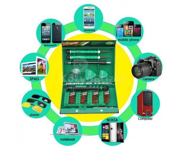 38 részes telefon szétszedő, javító készlet