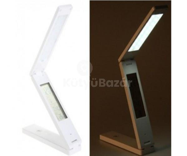 Asztali összecsukható LED lámpa hőmérővel