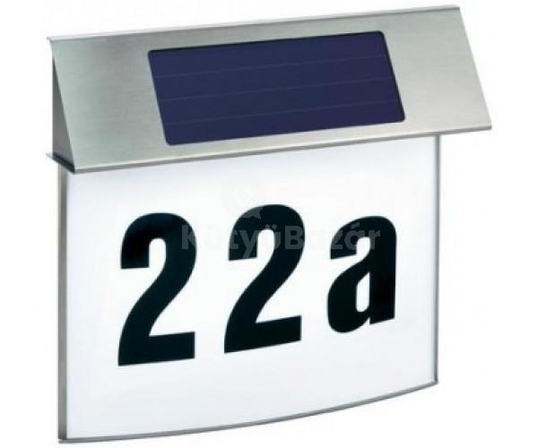 Házszámtábla, napelemes házszámtábla, világító házszámtábla
