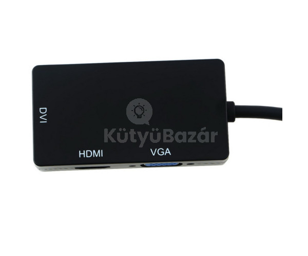 3 az 1-ben Mini displayport átalakító, konverter,  DVI, VGA, HDMI