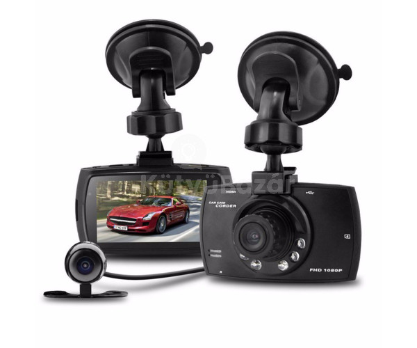 Dupla kamerás fedélzeti autós kamera