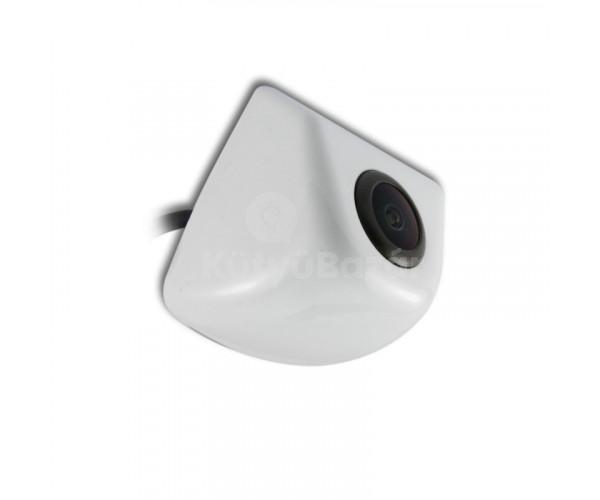 Befúrható tolatókamera vízálló fehér színben