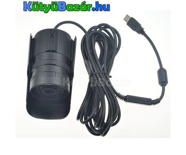 digitális CCD kamera kültéri Fekete USB vízálló 24 LED CCTV IR éjjel látó