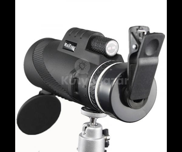 Telefonra csatlakoztatható teleszkóp állvánnyal