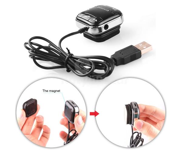 Feltapasztható Bluetooth FM Transmitter microSD foglalattal, mágnessel