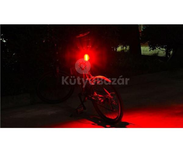USB-ről tölthető hátsó kerékpár lámpa