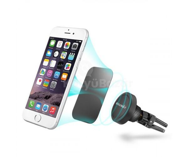 Exkluzív autós szellőzőbe helyezhető mágneses telefontartó