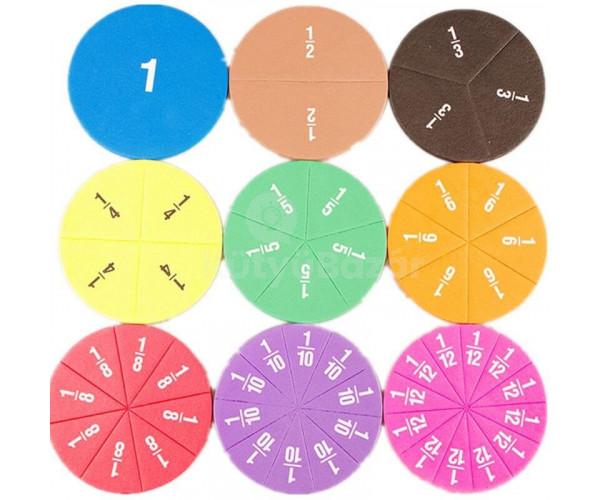 Matematikai tört oktató játék, összeadás-kivonás szórakozva (51 db-s szett)